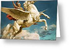 Pegasus The Winged Horse Greeting Card