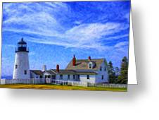 Pemaquid Point Lighthouse Greeting Card