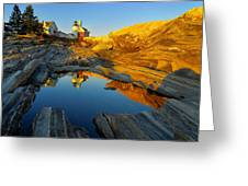 Pemaquid Point Reflection 2 Greeting Card