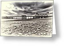 Penarth Pier Cream Greeting Card
