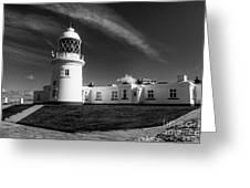 Pendeen Lighthouse Mono Greeting Card