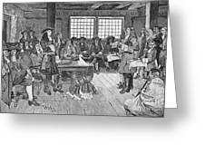 Penn And Colonists, 1682 Greeting Card