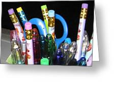 Pens And Pencils Greeting Card