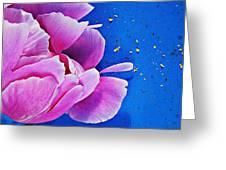 Peony Dust Greeting Card
