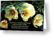 Peony Friends Greeting Card