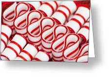 Peppermint Ribbon Candy Greeting Card