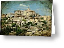 Perched Village Of Gordes Greeting Card