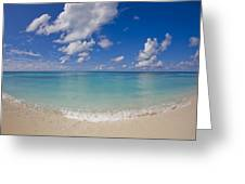 Perfect Beach Day With Blue Skies Greeting Card