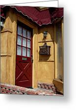 Perfectly Paletted Doorway Greeting Card