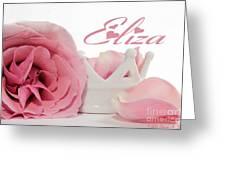 Personalized Princess Petals Greeting Card
