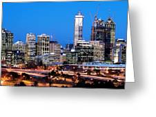 Perth City Night View From Kings Park Greeting Card by Yew Kwang