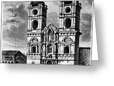Peru: Jesuit Church, 1869 Greeting Card