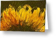Petales De Soleil - A43t02b Greeting Card by Variance Collections