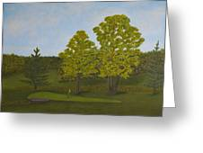Peter's Hole In One Greeting Card