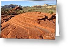 Petrified Sand Dunes - Snow Canyon Utah  Greeting Card