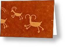 Petroglyph Artwork Greeting Card