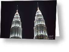 Petronas Tower Top Detail Greeting Card