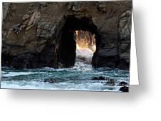 Pfeiffer Rock Big Sur Greeting Card by Bob Christopher