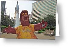 Phanatic Love Statue In The City Greeting Card