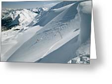 Phil Atkinson Skiing The Dogtooth Range Greeting Card