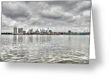 Philadelphia Across The Water Greeting Card