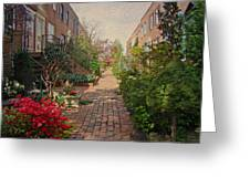 Philadelphia Courtyard - Symphony Of Springtime Gardens Greeting Card by Mother Nature