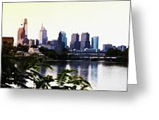 Philadelphia From The Banks Of The Schuylkill River Greeting Card