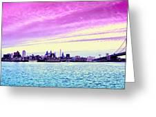 Philadelphia Morning View Greeting Card