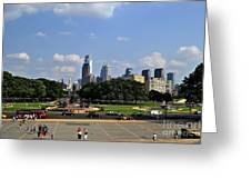 Philadelphia Skyline 5 Art Museum Greeting Card