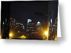 Philadelphia Skyline At Night - Mirror Box Greeting Card
