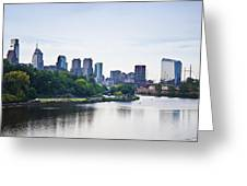Philadelphia View From The Girard Avenue Bridge Greeting Card by Bill Cannon