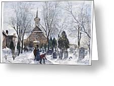 Philadelphia: Winter, 1873 Greeting Card