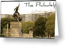Philadelphian View From Museum Greeting Card