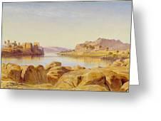 Philae - Egypt Greeting Card by Edward Lear