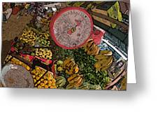Philippines 2100 Food Market With Scale Greeting Card