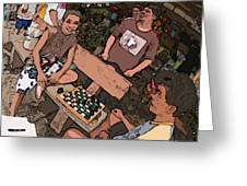 Philippines 4293 Checkers Greeting Card