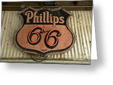Phillips 66 Vintage Sign Greeting Card