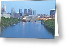 Philly In Blue Greeting Card