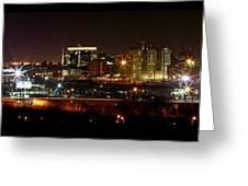 Philly Night Panoramic Greeting Card