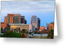 Phoenix Skyline At Dusk Greeting Card