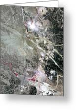 Phosphate Mines, Jordan Greeting Card by Nasa