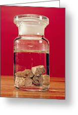 Phosphorus In A Jar Greeting Card by Andrew Lambert Photography