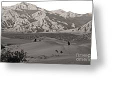 Photographers Capturing Images Of The Dunes At Death Valley  Greeting Card