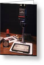 Photographic Enlarger Greeting Card