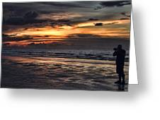 Photographing Sunsets Greeting Card