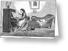 Pianist, 1876 Greeting Card