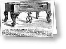 Piano Advertisement, 1874 Greeting Card