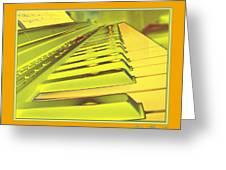 Piano Impressions Greeting Card