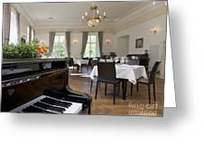 Piano In A Upscale Dining Room Greeting Card