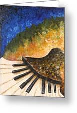 Piano Jazz Greeting Card by Draia Coralia